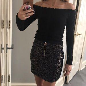 NEW Free People sequined mini skirt 0